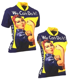 Retro Image Rosie the Riveter Jersey Large Short Sleeved