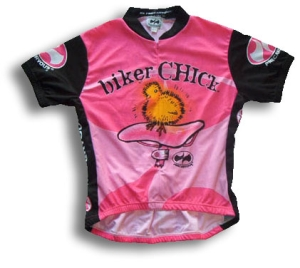 World Jerseys Biker Chick Jersey Pink Large Short Sleeved