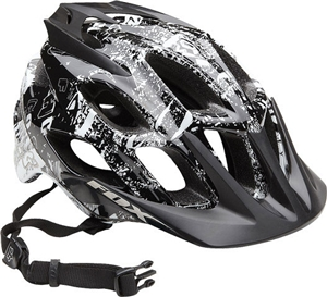 Fox Flux Bike Helmet Small/Medium TypeO Neg Black/White