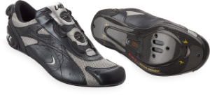 Lake CX330C Road Bike Shoes Size 40.5 Pearl Black/Silver Mesh