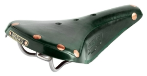 Brooks B17 Titanium Rail Saddle Green