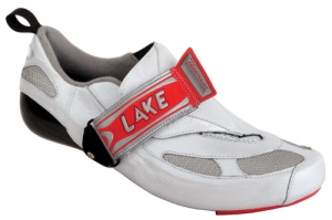 Lake CX410 CFC Triathlon Shoes Pearl White with Red Size 45