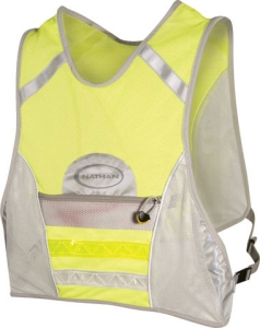 Nathan LED Runners Vest Yellow/Gray One Size Fits Most