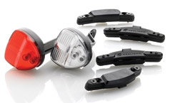 Reelight BatteryFree Lights with Power Back Up SL120 Compact for bikes without disc brakes
