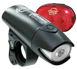 Planet Bike Beamer 1 & Blinky 3 Light Set Planet Bike Beamer 1 & Blinky 3 Light Set