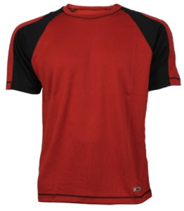 Bellwether Action T Jersey Red with Black Stripe XXLarge Red with Black Stripe