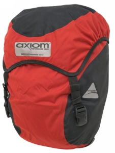 Axiom Monsoon DLX Waterproof Pannier and Laptop Bag Red/Black