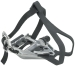 Product image of Wellgo LU-961 Road Pedals Silver with Clips & Straps
