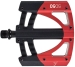 Product image of Crank Brothers 5050 3 Red/ Silver Platform Pedals