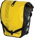 Civia Vert Stripes Waterproof Rear Pannier: Yellow