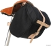 Banjo Brothers Minnehaha Canvas Saddle Bag: Black; SM