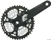 SR Suntour XCT 175mm 8 Speed 22/32/42 Crankset Black; Bottom Bracket Not Included
