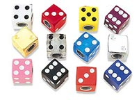 Trik Topz Dice Valve Caps Chrome